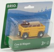 BRIO 33406 Cow & Wagon